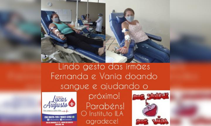Agora Santa Inês - INSTITUTO LUCAS AUGUSTO SEGUE COM AS CAMPANHAS DE SANGUE
