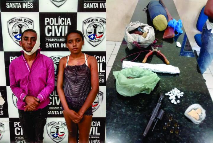 Agora Santa Inês - Polícia Militar prende homem que traficava e assaltava municípios da região