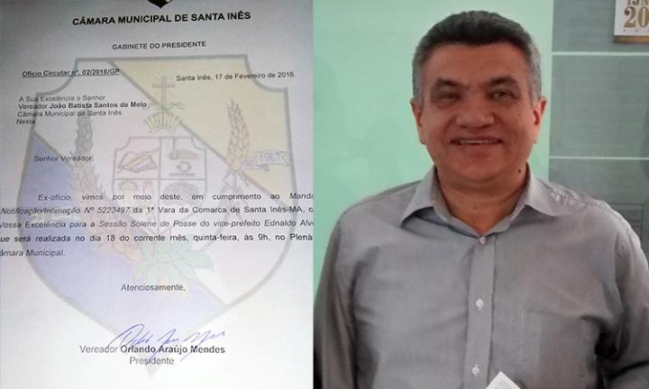 Agora Santa Inês - Dino será empossado prefeito nesta quinta às 9 da manhã na Câmara
